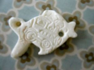 And I think this is my favourite, a fish with a steam train stamp...!