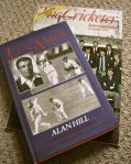 A copy of the Cricketer magazine from the month and year he was born, and a  biography of Les Ames-the only wicket keeper to ever have scored 100 first class 100s..!