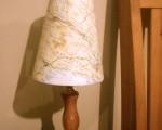Upcycled lampshades…