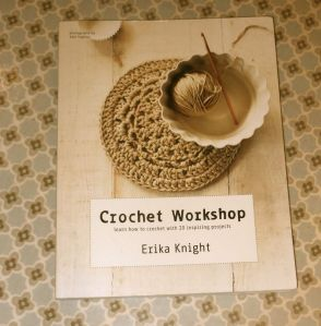 "This lovely book ""Crochet Workshop"" from the lovely 'KiwiJo' of guest posting fame!"