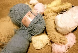 Some wool, from a lovely lady called Susan, who very kindly responded to my appeal for wool for crocheting!!