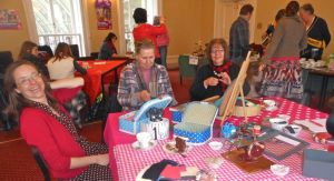 Mother's Day brooch making from felted wool sweaters with the fabulous Scrapiana