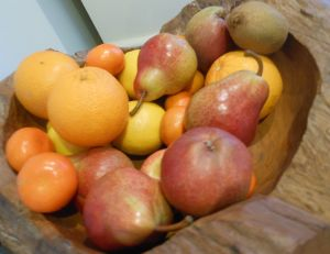 Some of the delicious fruit from this week's fruit box