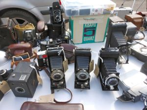 Gorgeous collection of old cameras