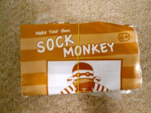 And a Make your own Sock Monkey kit