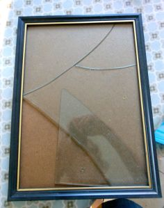 Broken glass in a frame, in case you were having difficulty visualising it...