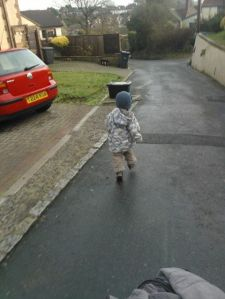 "SmallSmall running down the road, just because he can, shouting ""Zoom!"""