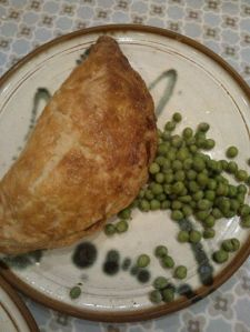 A beast of a pasty-made from leftovers :)
