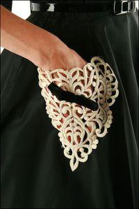 Lace detail pockets dress