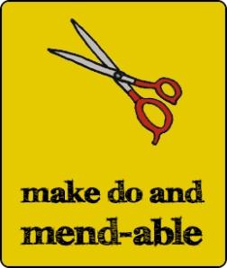 yellow box - black tusj font - scissors