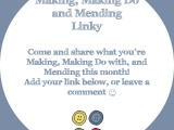 Making, Making Do and Mending OctoberLinky