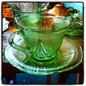Glass cups and saucers for upcycling @DecadiaDesigns