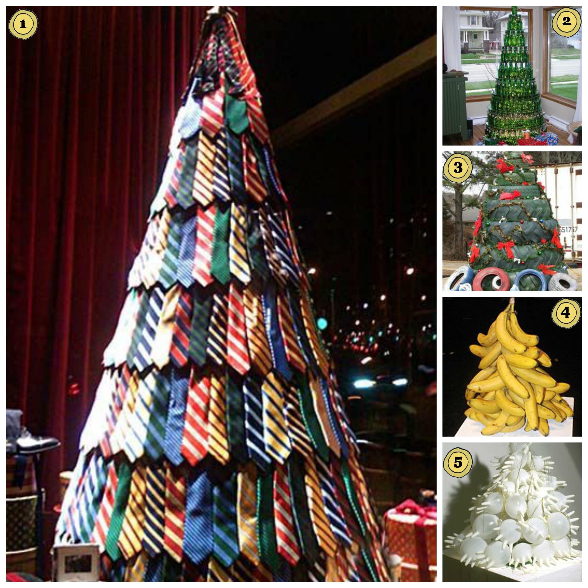 25 Alternative Christmas Trees – My Make Do And Mend Life - Redneck Christmas Tree Decorations