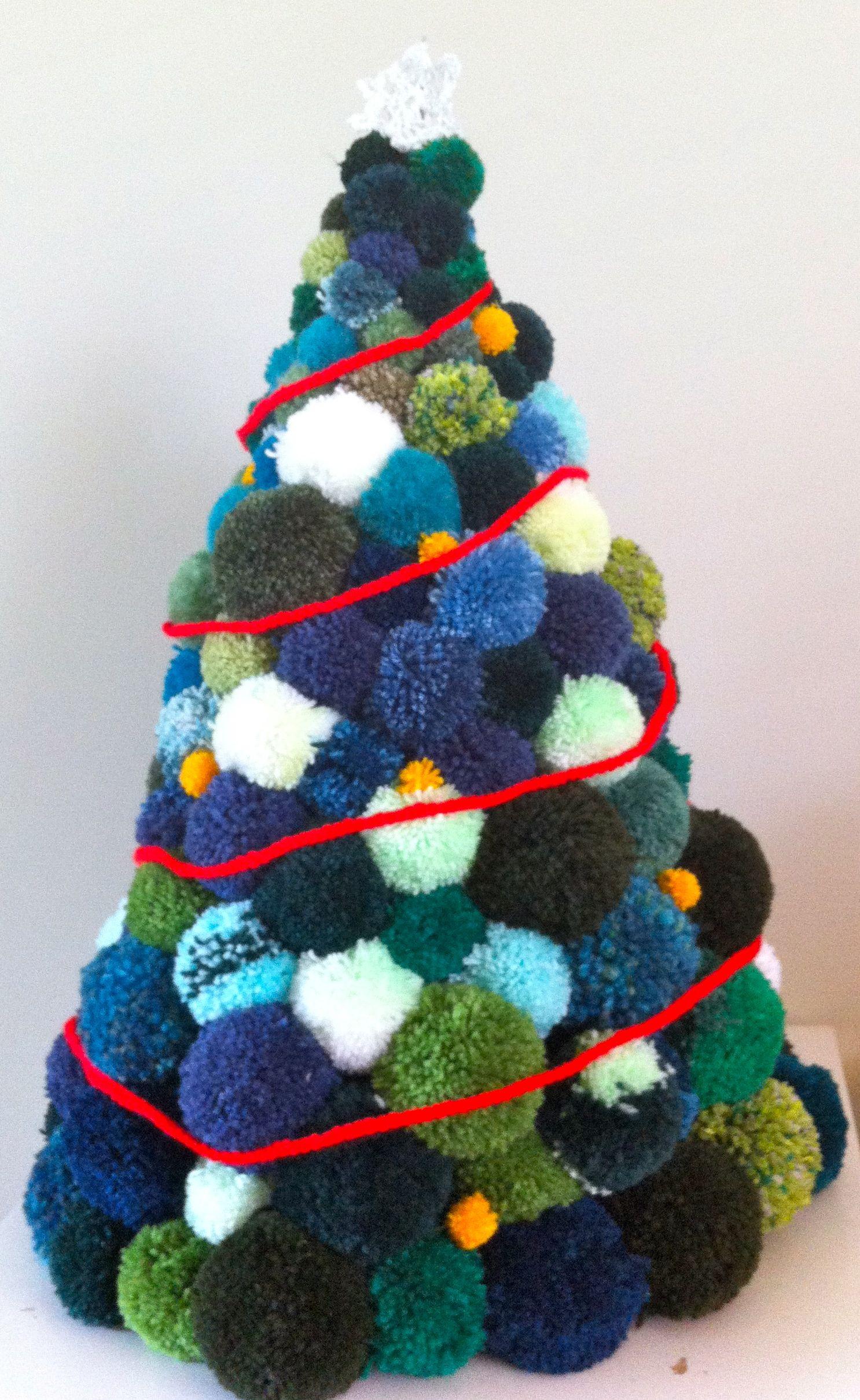 Our Pom-pom Christmas Tree! – My Make Do and Mend Life
