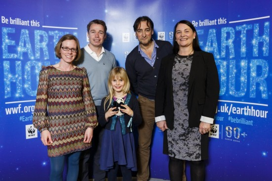WWF ambassadors Graeme LeSaux and Alistair McGowan, with Diane, Jessie and me! Photo from WWF