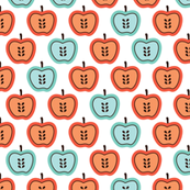 Mint and Orange Retro, by Little Smile Makers on Spoonflower