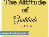 The Attitude of Gratitude…