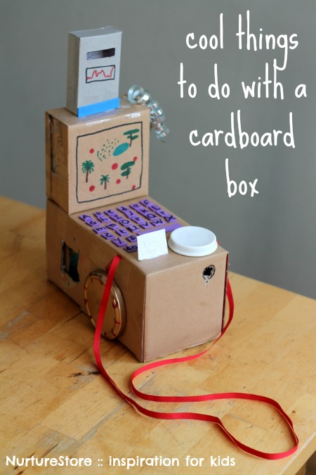 Cool things to do with a cardboard box from Nurture Store