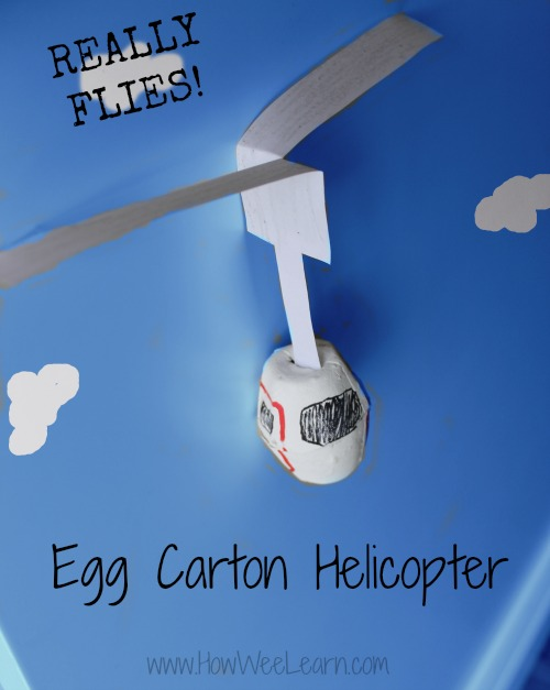 Egg Carton Helicopter from How Wee Learn