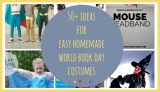 Ideas for Easy Homemade World Book Day Costumes!